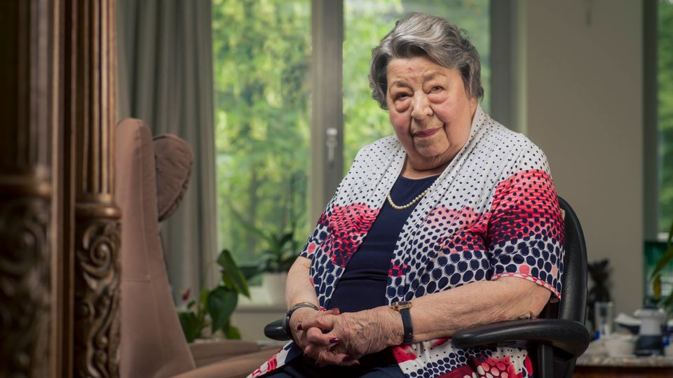 Mevrouw Loeff-Vael is 87 jaar en woont in Villa Hamer in Berg en Dal
