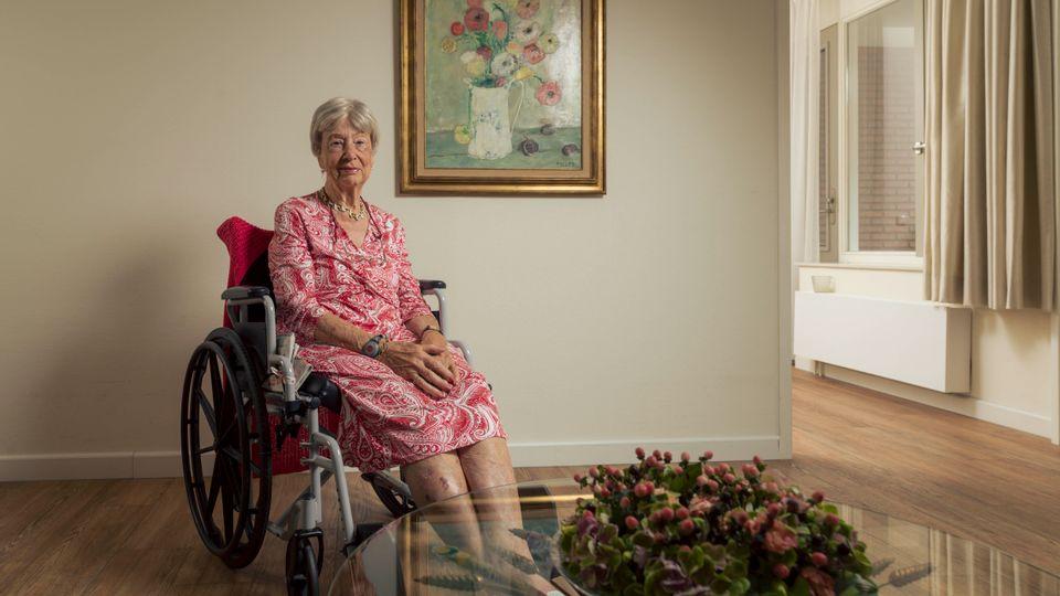 Mevrouw De Bruin is 91 jaar en woont in Villa Hamer in Berg en Dal